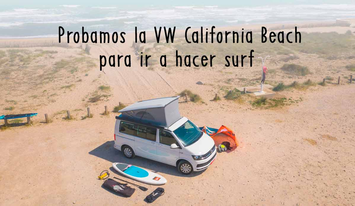 Volkswagen California Beach disponible en alquiler en Caravanas Osito.