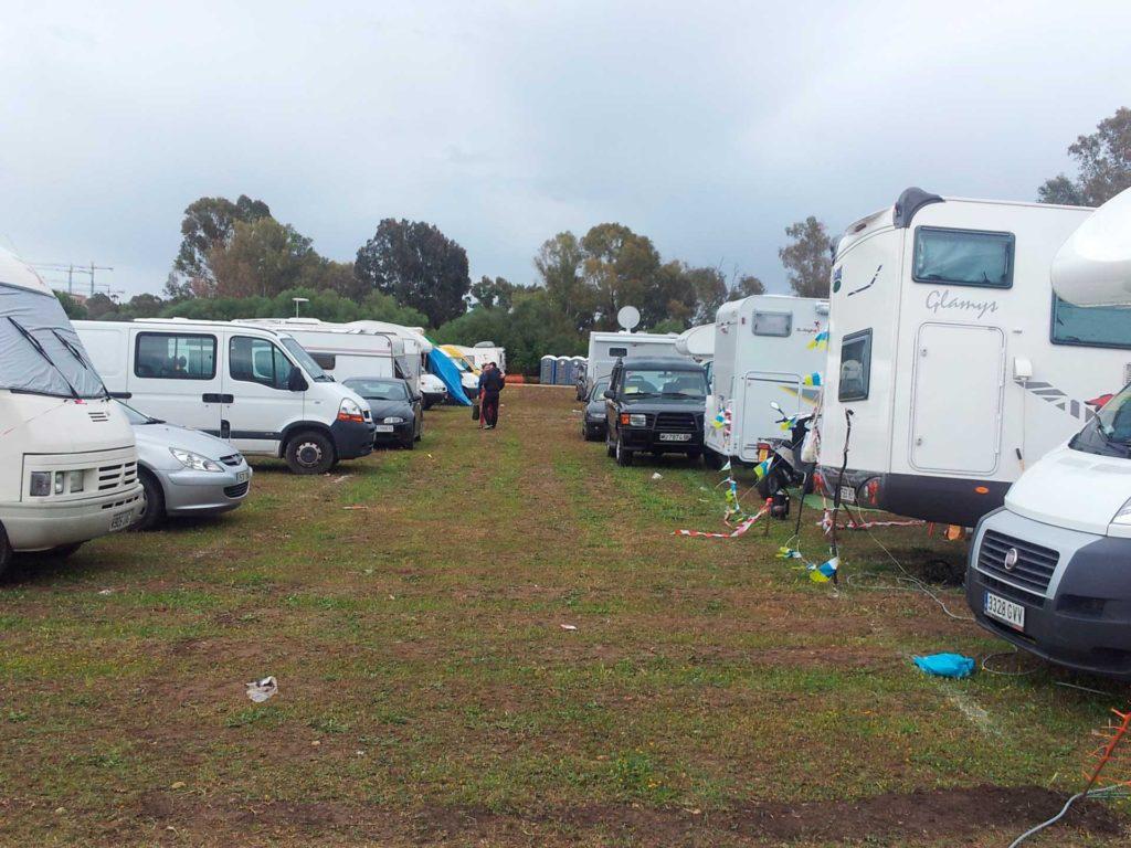 Zona de acampada para autocaravanas en el Gran Premio de Jerez