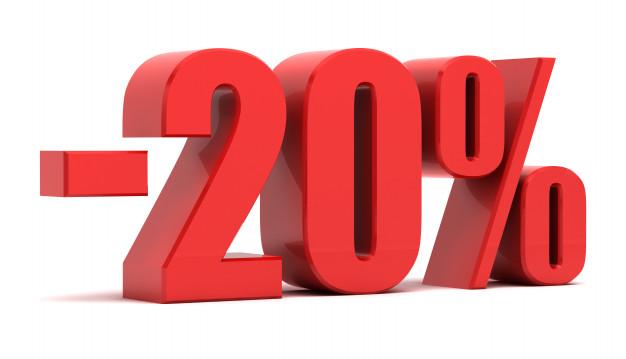 Consigue hasta un 20% de descuento